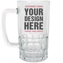 Design Custom Clear Stein Glass