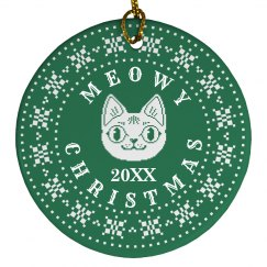 Custom Date Meowy Christmas