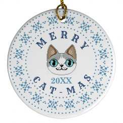 Custom Date Merry Cat-Mas