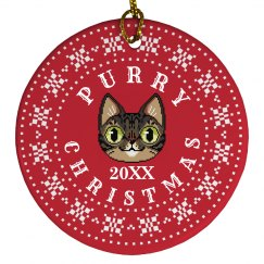 Custom Date Purry Christmas