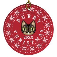 Custom Date Purry Christmas