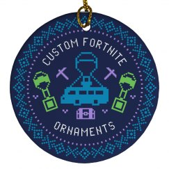 Custom Fortnite Christmas Ornaments