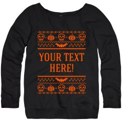 Custom Ugly Sweater Skull