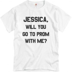 Customizable Name Promposal Tee