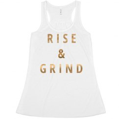 Rise & Grind Metallic Quote