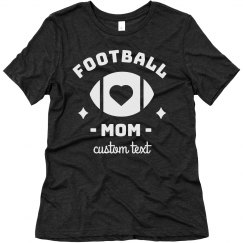 Football Mom Custom Comfy Triblend Tee