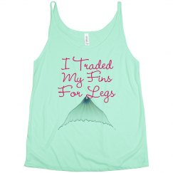 """""""Fins For Legs"""" Slouchy Tank"""