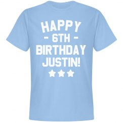 Customizable Happy 6th Birthday Tee!