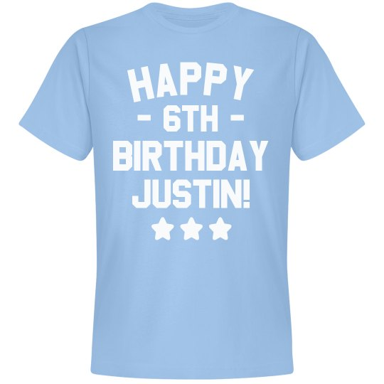 Customizable Happy 6th Birthday Tee Unisex Premium T Shirt