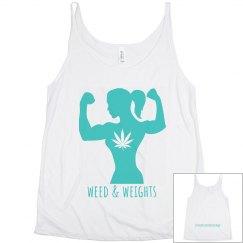 W&W women's string tank white