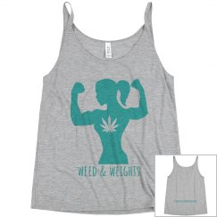 W&W women's strong tank heather grey