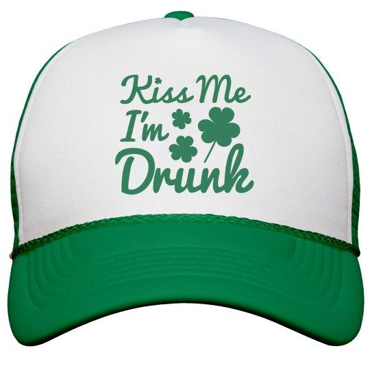 d0361cbf024 Kiss Me Im Drunk Snapback Trucker Hat