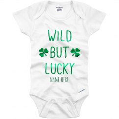 Metallic Wild but Lucky Custom Onesie