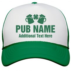 Custom Irish Pub Shamrock Hats