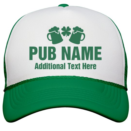 5c06bcc1a2d Custom Irish Pub Shamrock Hats Snapback Trucker Hat