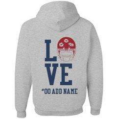 Love Football Zip Hoodie