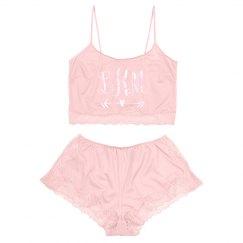 Custom Monogram Valentine's Lace Lingerie Set