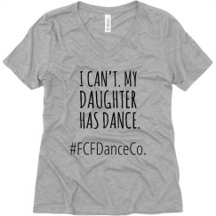 I can't. My daughter had dance T-shirt