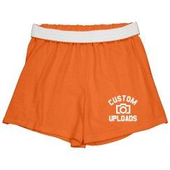 Custom Cheer Shorts Upload Images