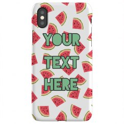 Watermelon Custom Text Case