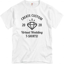Create Custom Virtual Wedding T-Shirts