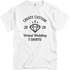 Create Custom Virtual Wedding T-Shirts