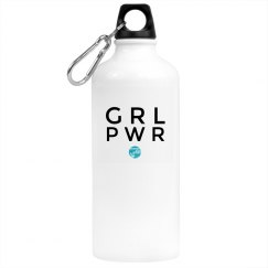 Women Kick Glass GRLPWR Water Bottle