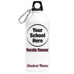 Custom Upload Soccer Water Bottle