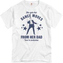 Her Dance Dad Moves