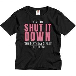 Time to shut it down shirt