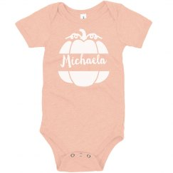 Peach Pumpkin Custom Halloween Bodysuit