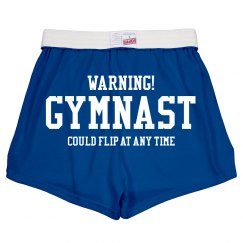 Funny Warning Gymnast Could Flip