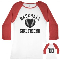 Baseball Girlfriend Tees With Custom Names and Numbers