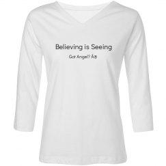 woman's long sleeve shirt