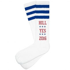 Hill Yes Hillary Clinton Socks