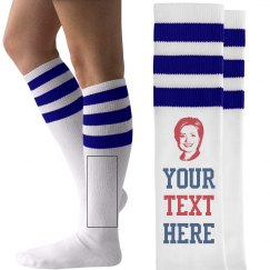 Your Text Hillary Clinton Socks