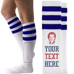 Your Text Hillary Clinton Socks