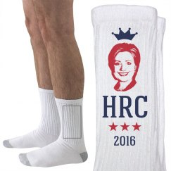 Queen HRC Hillary Clinton Socks