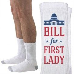 Bill Clinton First Lady Socks
