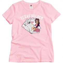 Pink Texas Holdem Poker Girl T-Shirt