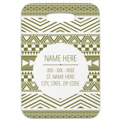 Custom Geometric Pattern Tag