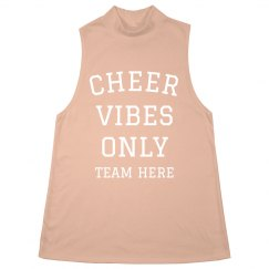 Cheer Vibes Only Custom Halter