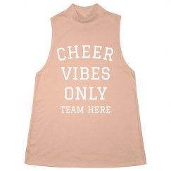 Cheer Vibes Only Custom Halter