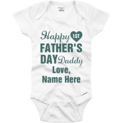 Personalized First Father's Day Onesie