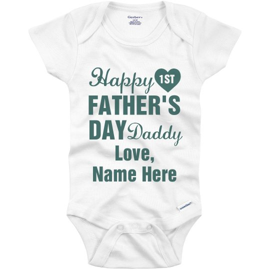 474f88f56 Personalized First Father's Day Onesie Infant Onesie