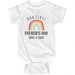 Rainbow Father's Day Custom Onesie