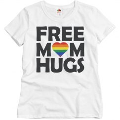 Ladies Relaxed Fit Free Mom Hugs