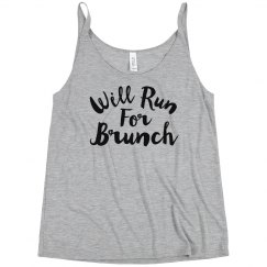 Will Run For Brunch Funny Workout