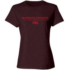 Hawkins Indiana 1983 Basic Tee