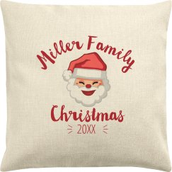 Custom Christmas Family Pillowcase Holiday Gift